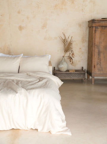 SAND DUVET COVER 001 - Kate James Studios | Linen Bedding
