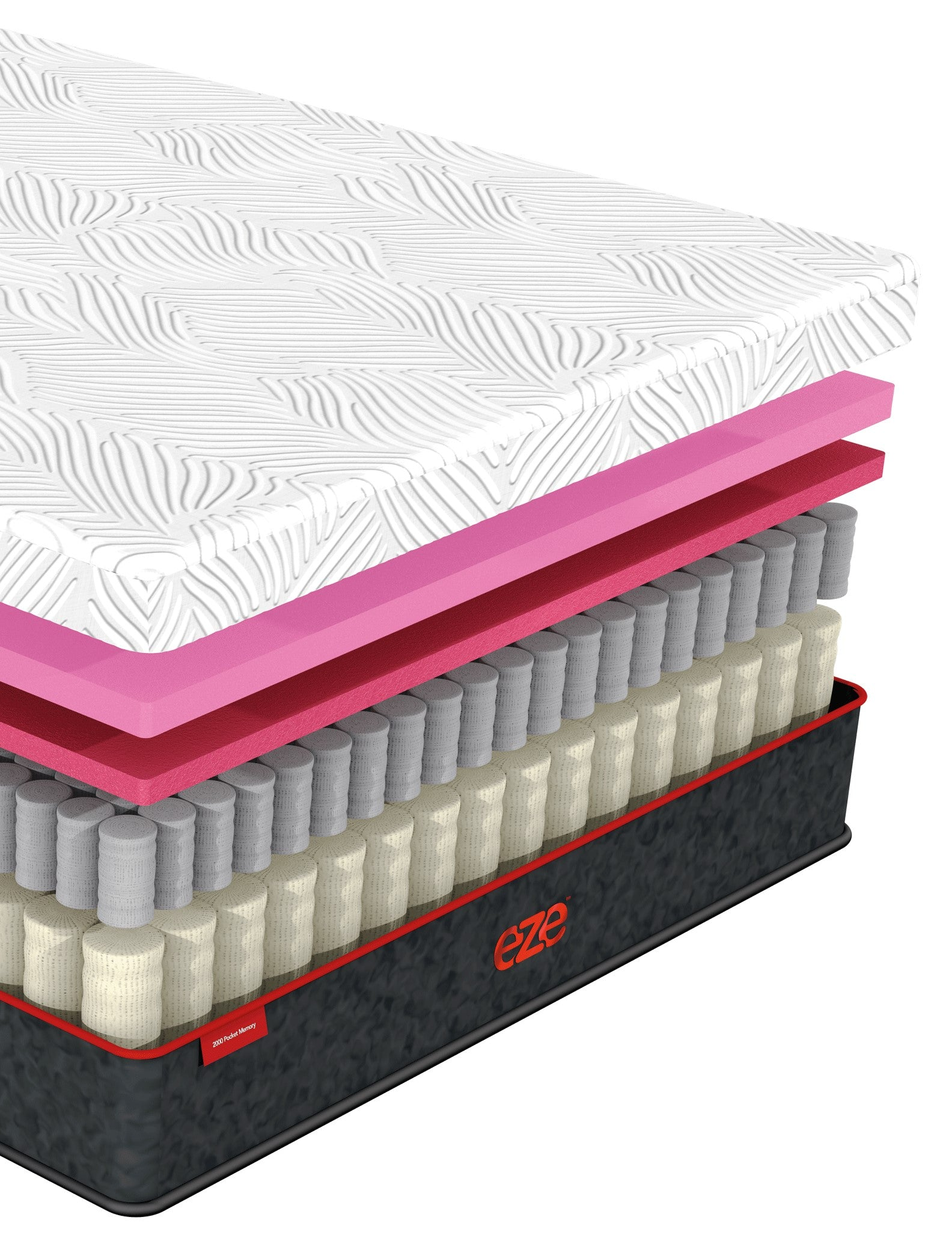 EZE Back Sleeper mattress layers