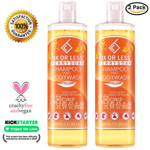 Six or Less Shampoo and Body Wash 2 Pack