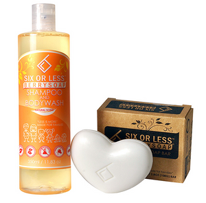 Six or Less Berrysoap Shampoo and Bar Soap Combo