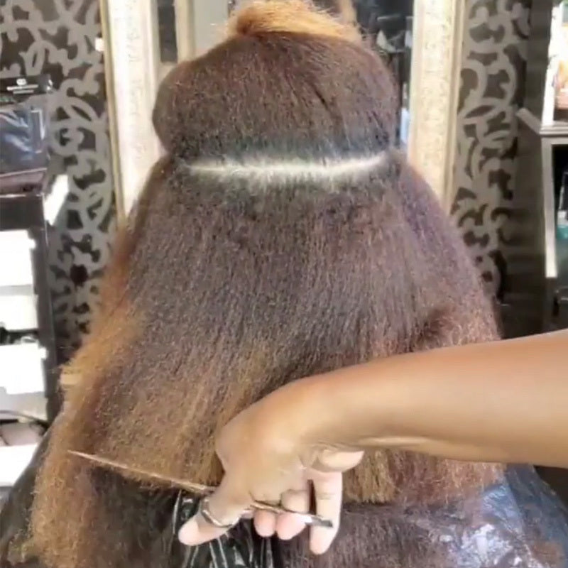 how to cut textured hair blown dry