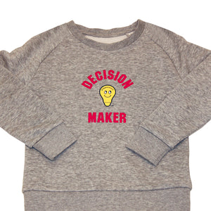 Decision Maker Sweatshirt-Heather Grey