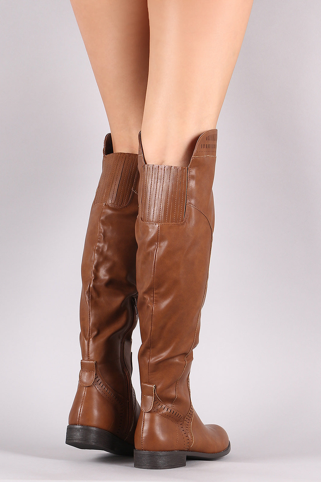 0f5a566a37a Wild Diva Lounge Perforated Riding Over-The-Knee Boots – Jai Joli