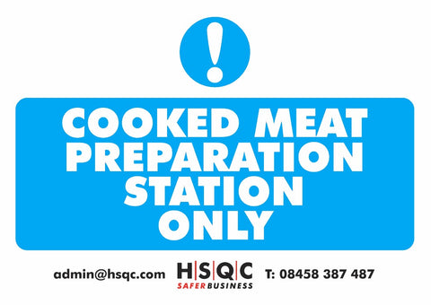 Meat Preparation Sign