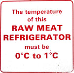 Raw Meat Refrigerator Sign