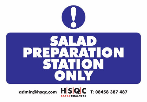 Salad Preparation Sign