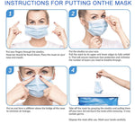 100 Fabric Face Masks - 3 Layer with Ear loop (Max x1 per purchase)