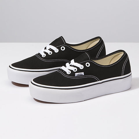 VANS AUTHENTIC PLATFORM NOIR BLACK DM2 SHOP FEMME WOEMN BACK TO SCHOOL RETOUR EN CLASSE CHAUSSURES SOULEIRS ESPADRILLE PLATE-FORME