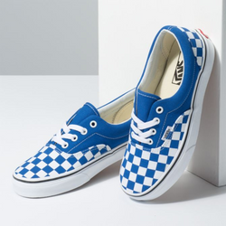 era checker vans unisex femme homme blue chaussures shoes