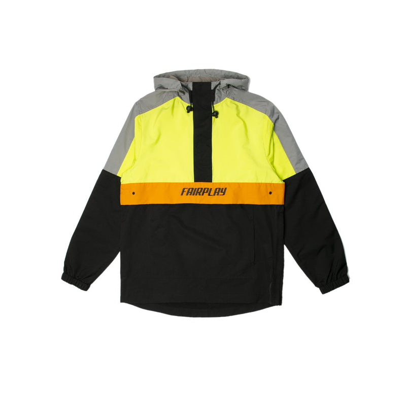 ANORAK ROSELLI FAIRPLAY NEON GREEN BLACK MEN HOMME DM2 SHOP