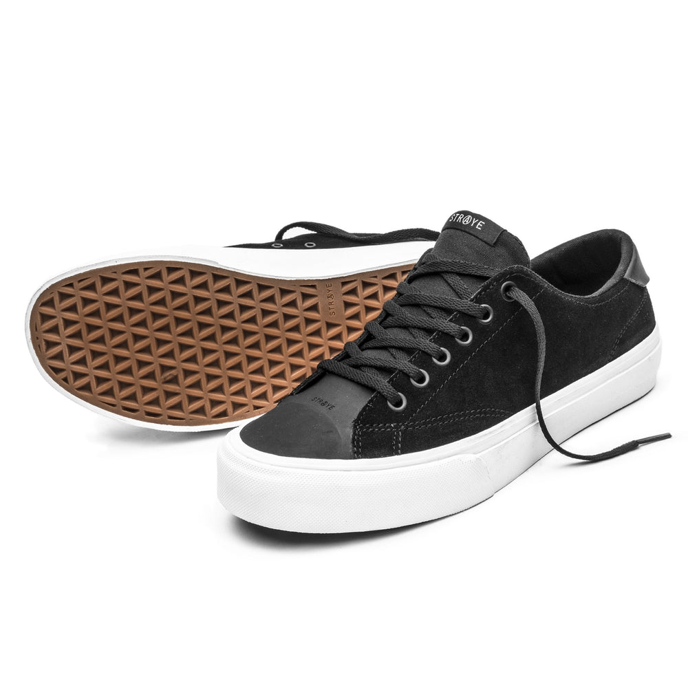 STRAYE SKATE SHOES STANLEY DIXON BLACK DM2 SHOP SKATEBOARDING