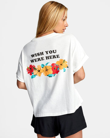 WISH YOU SS, T-SHIRT, HAUT, FEMME, RVCA, DM2 SHOP, HAWAII