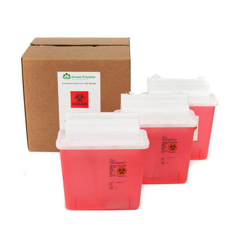 3x 5 Quart Sharps Disposal System