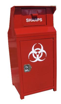 ADA COMPLIANT OUTDOOR SHARPS DISPOSAL BIN, 38 GALLONS -  ITEM: #CE138ADA-S