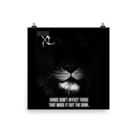 """Shade"" Lion Face Wall Poster"