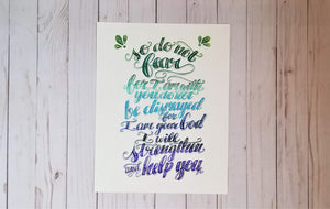 Isaiah 41:10 Typography - Rays of the Son