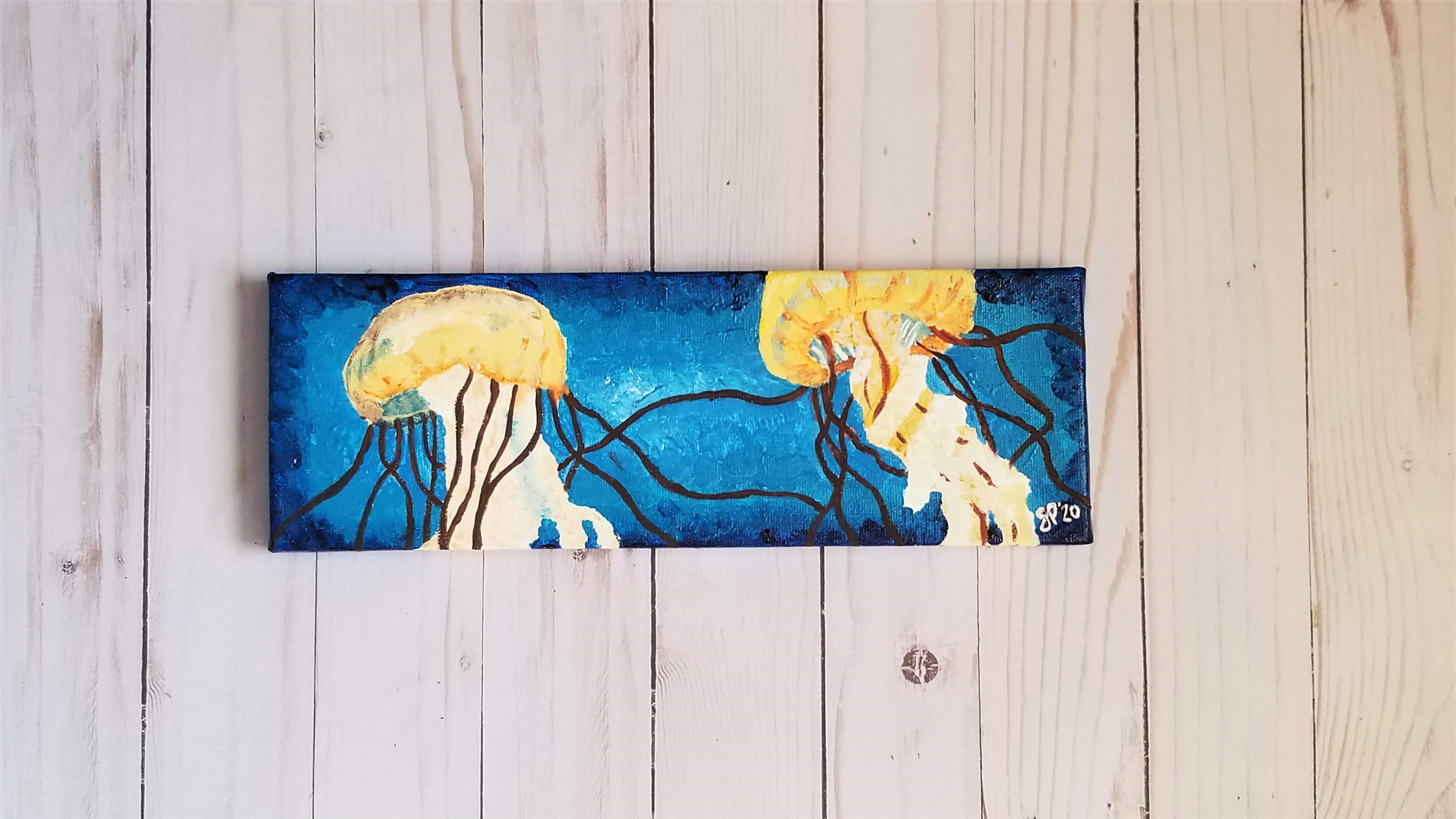 Jellyfish Panoramic Painting