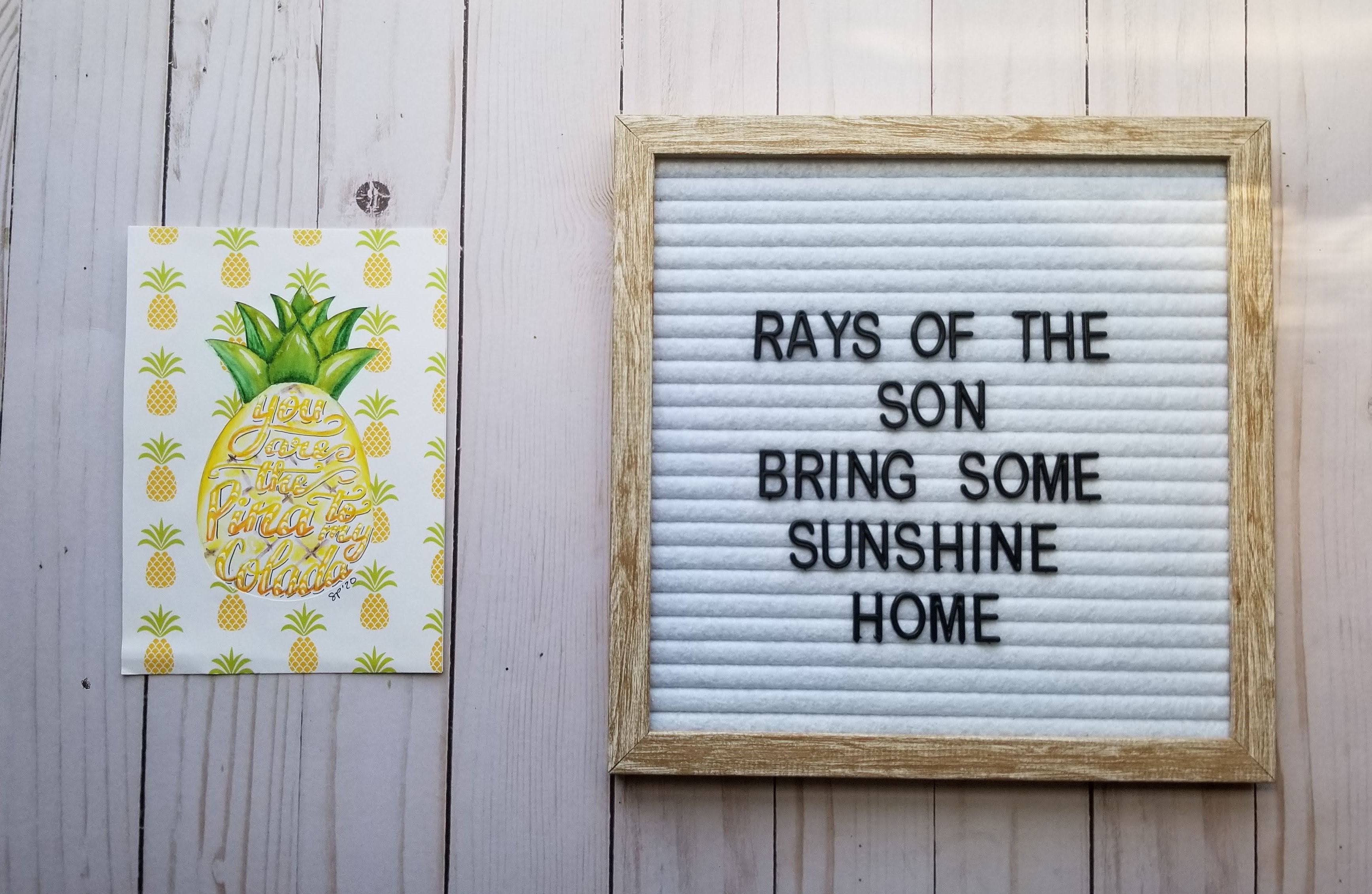 Pineapple Duo Collage - Rays of the Son