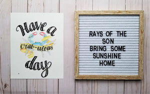 Have a Crabulous Day Typography - Rays of the Son