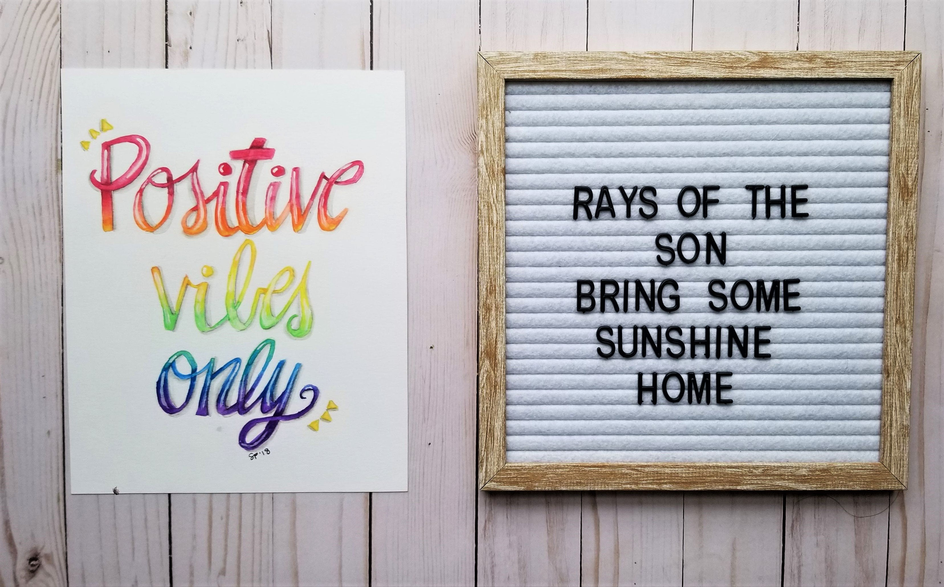 Positive Vibes Only Typography - Rays of the Son