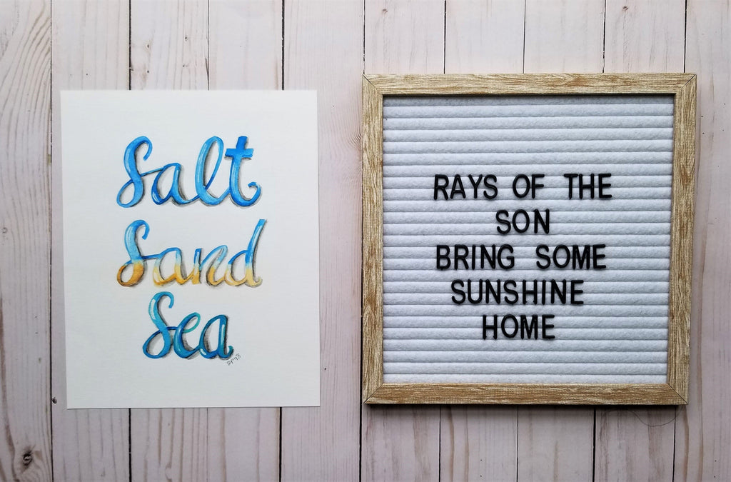 Salt Sand Sea Typography