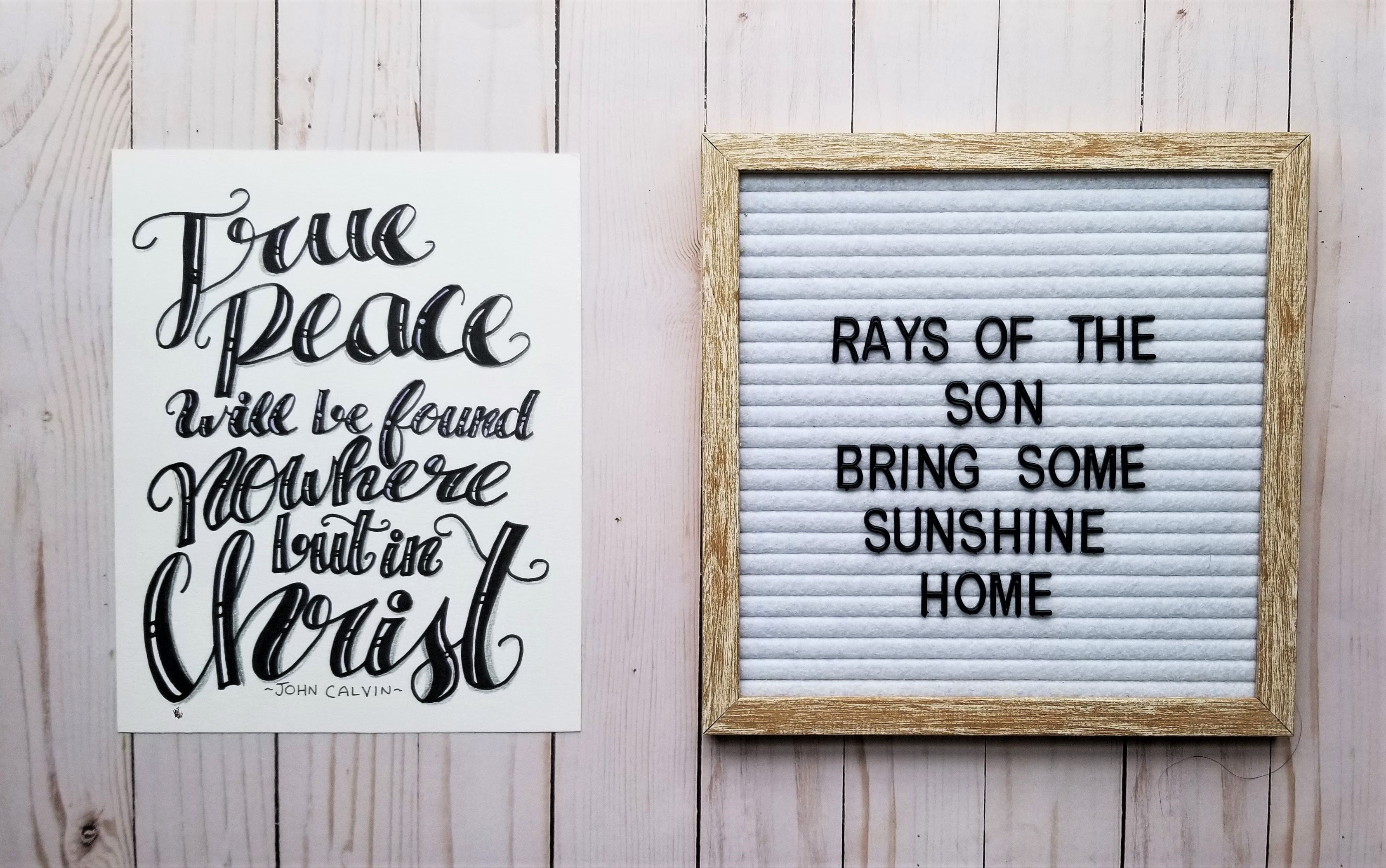 True Peace Typography - Rays of the Son
