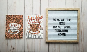 Coffee Duo Collage - Rays of the Son