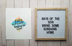Life's a Beach Typography - Rays of the Son