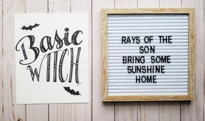 Basic Witch Typography - Rays of the Son