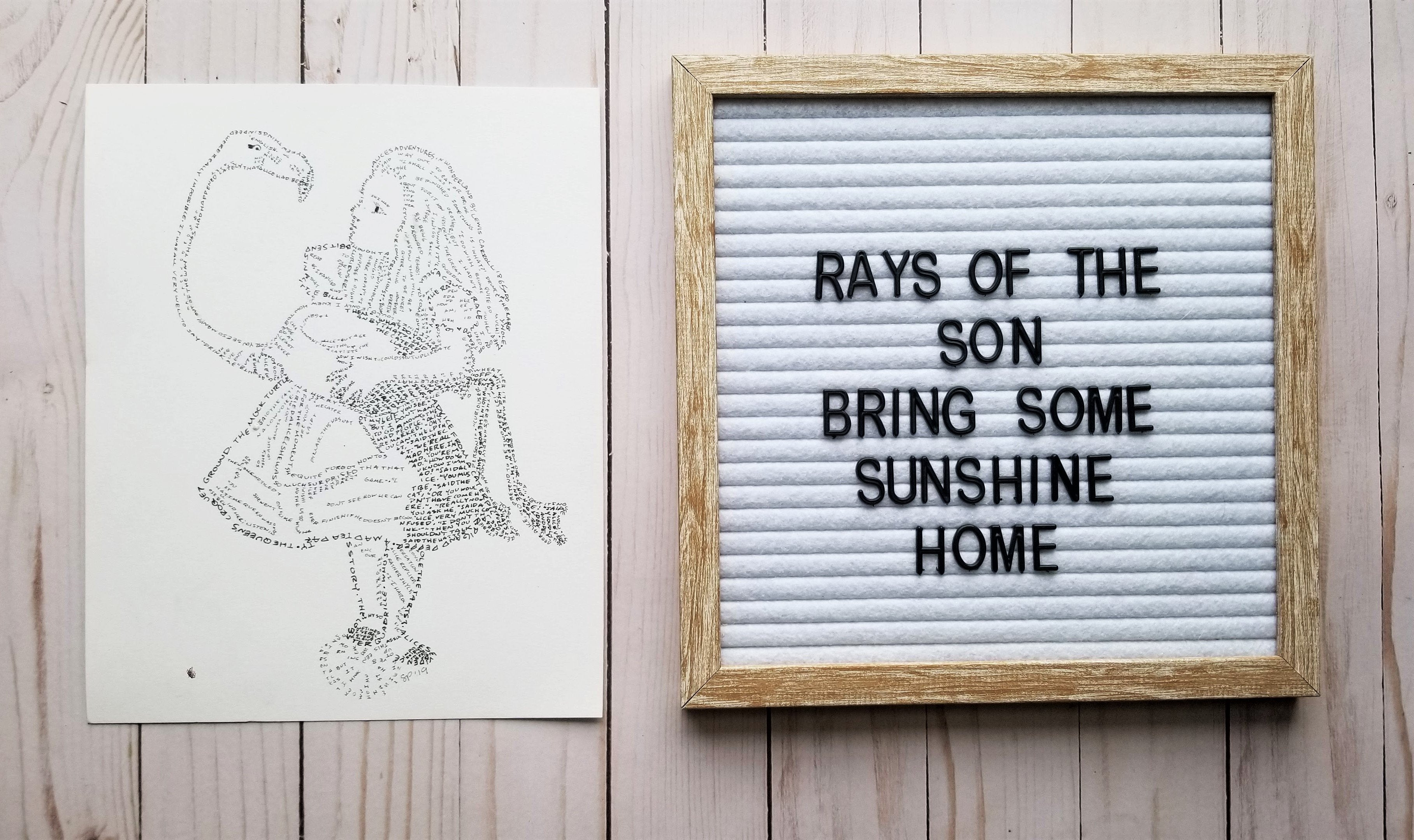 Alice in Wonderland Quotes Word Art - Rays of the Son
