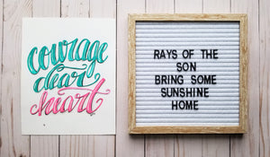 Courage Dear Heart Typography - Rays of the Son