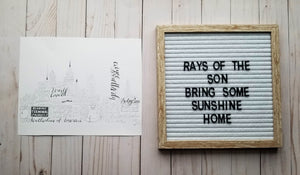 Philadelphia Word Art - Rays of the Son