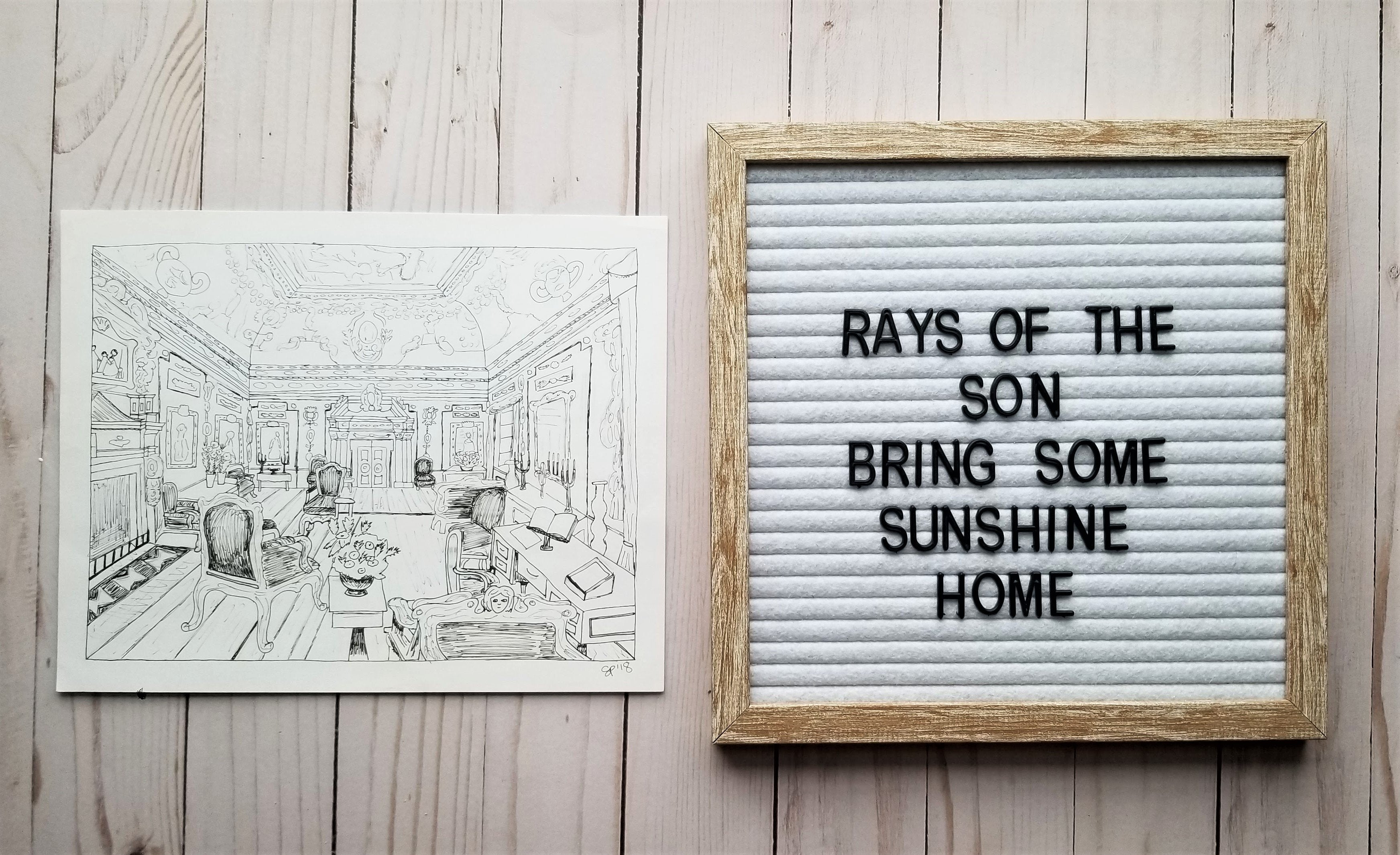Pemberly Interior Drawing - Rays of the Son
