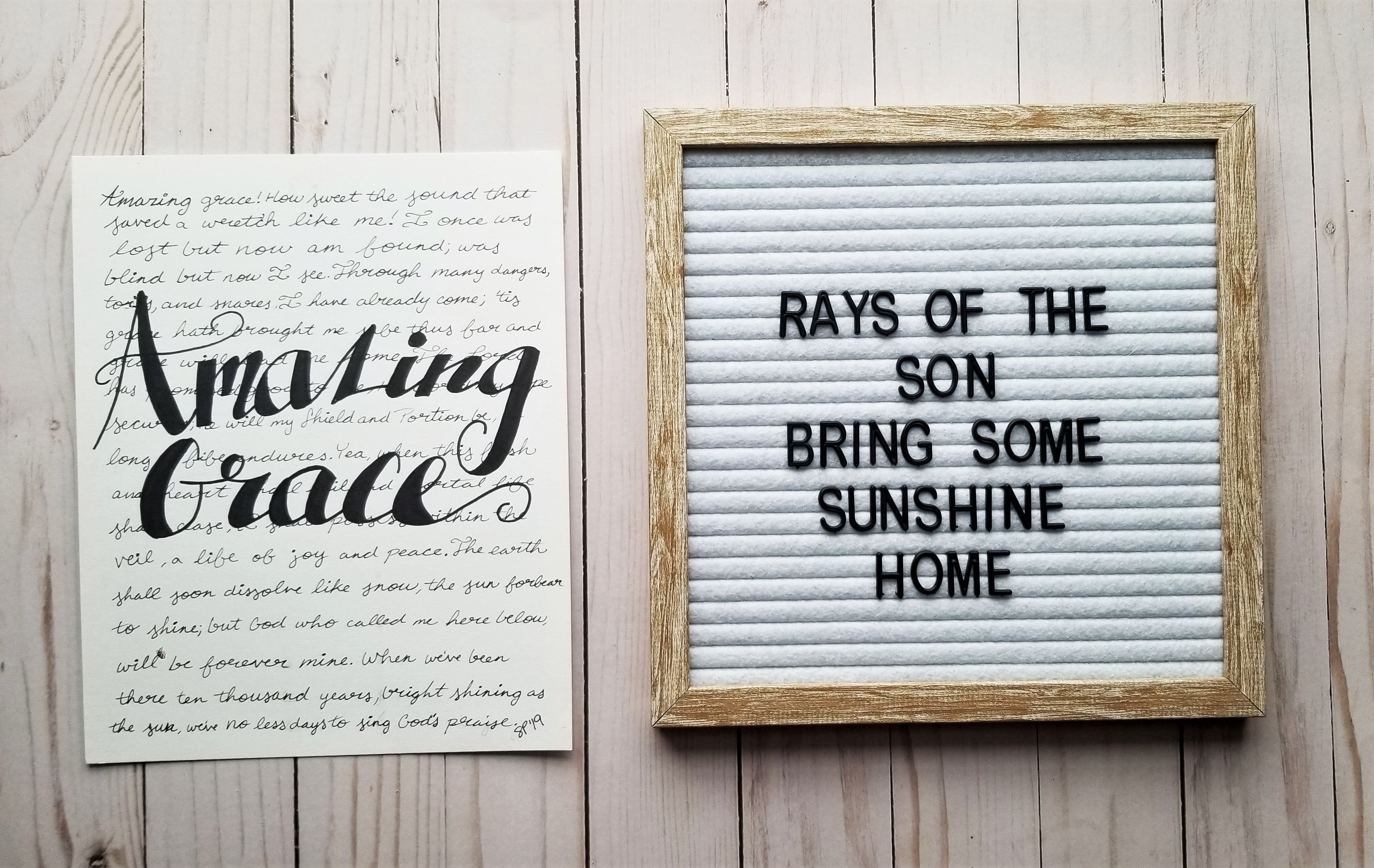 Amazing Grace Word Art - Rays of the Son