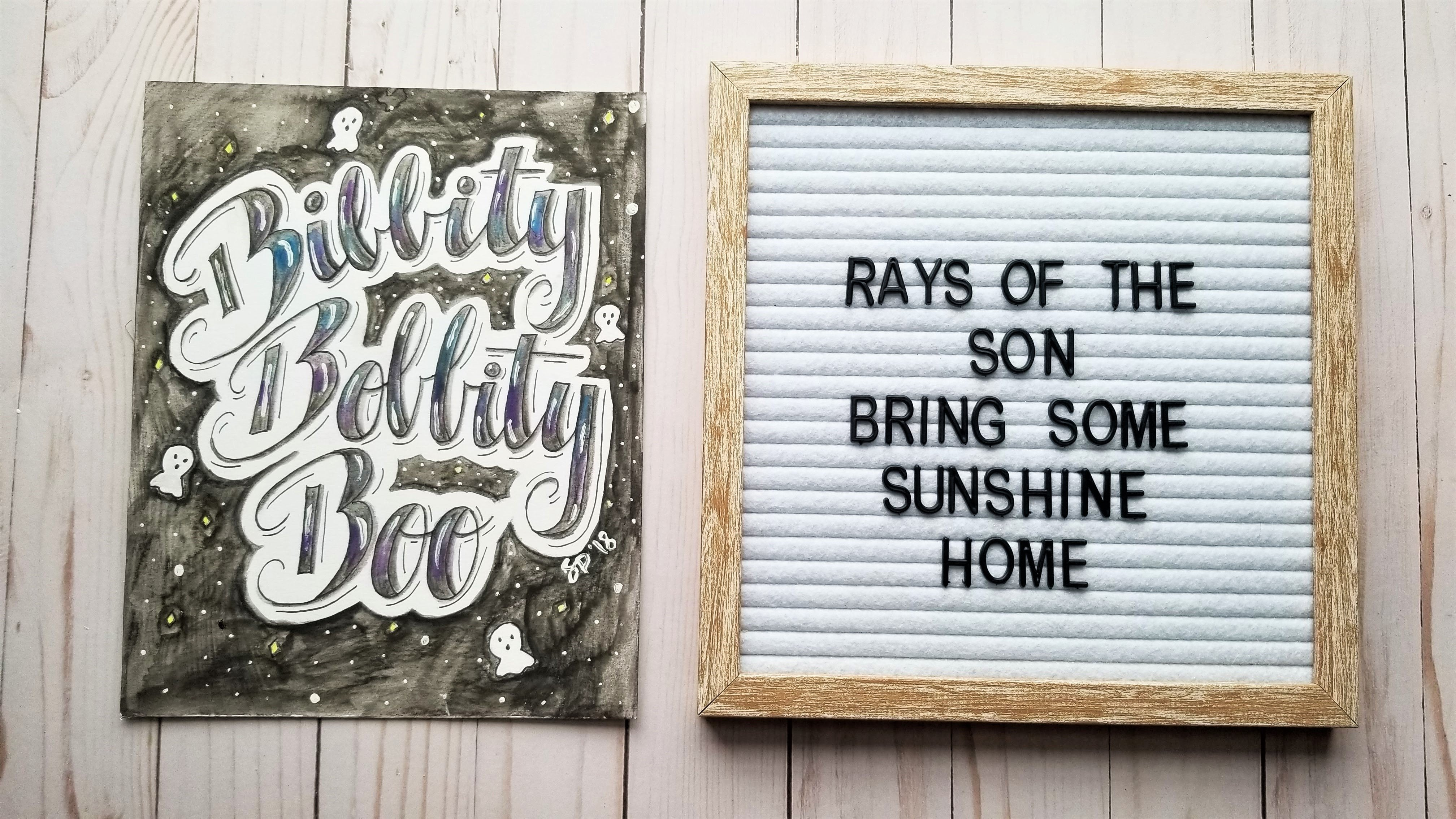 Bibbity Bobbity Boo Typography - Rays of the Son