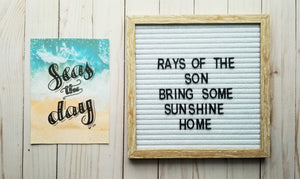 Seas the Day Typography - Rays of the Son