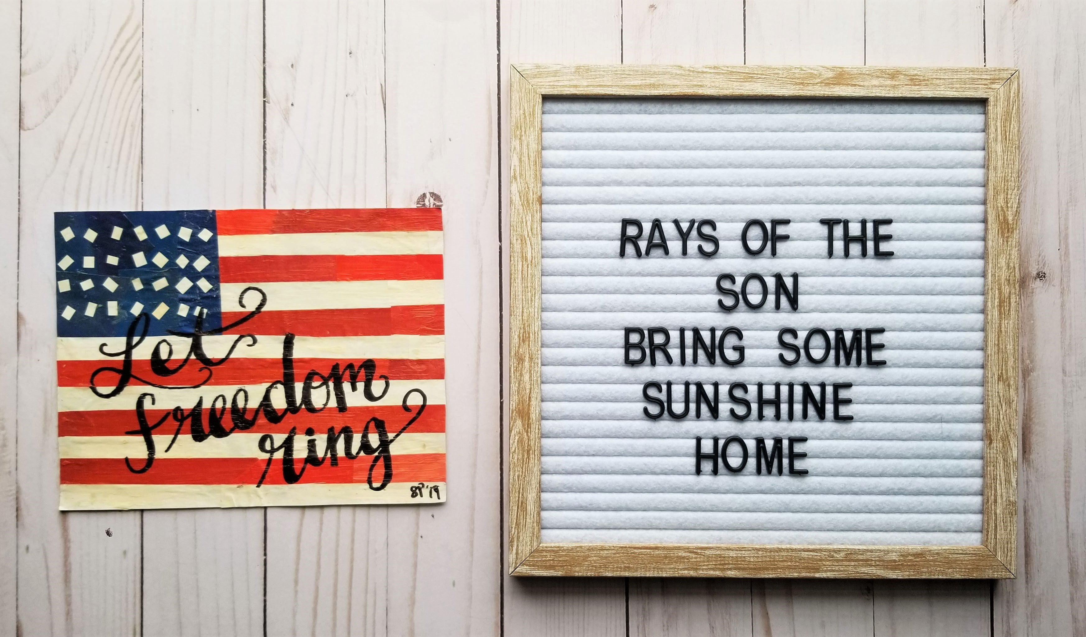 American Flag Collage - Rays of the Son