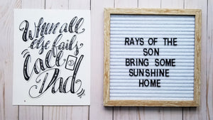 When All Else Fails, Call Dad Typography - Rays of the Son