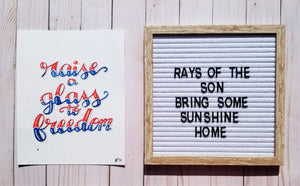 Raise a Glass to Freedom - Rays of the Son