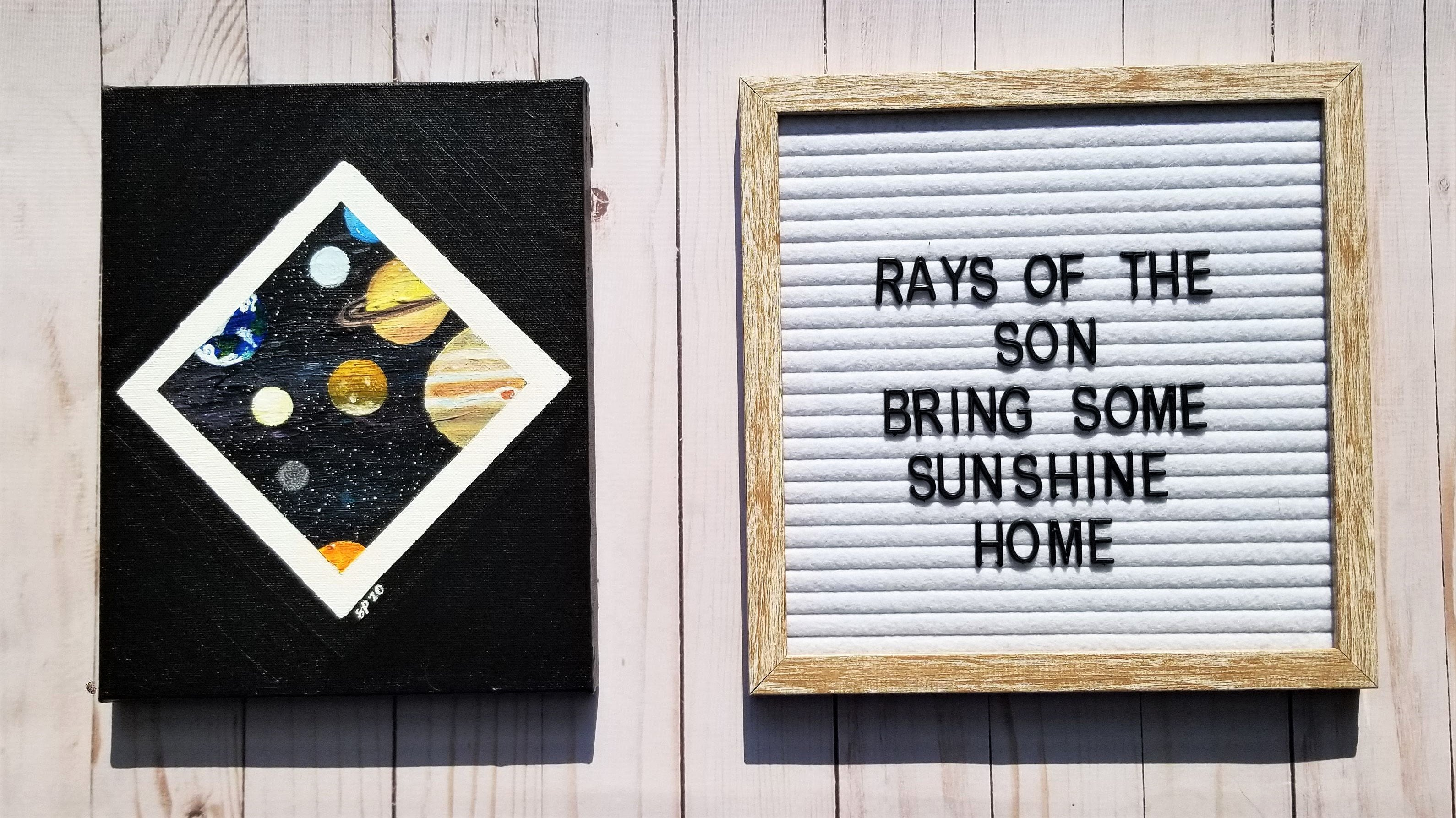 Space Geometric Painting - Rays of the Son