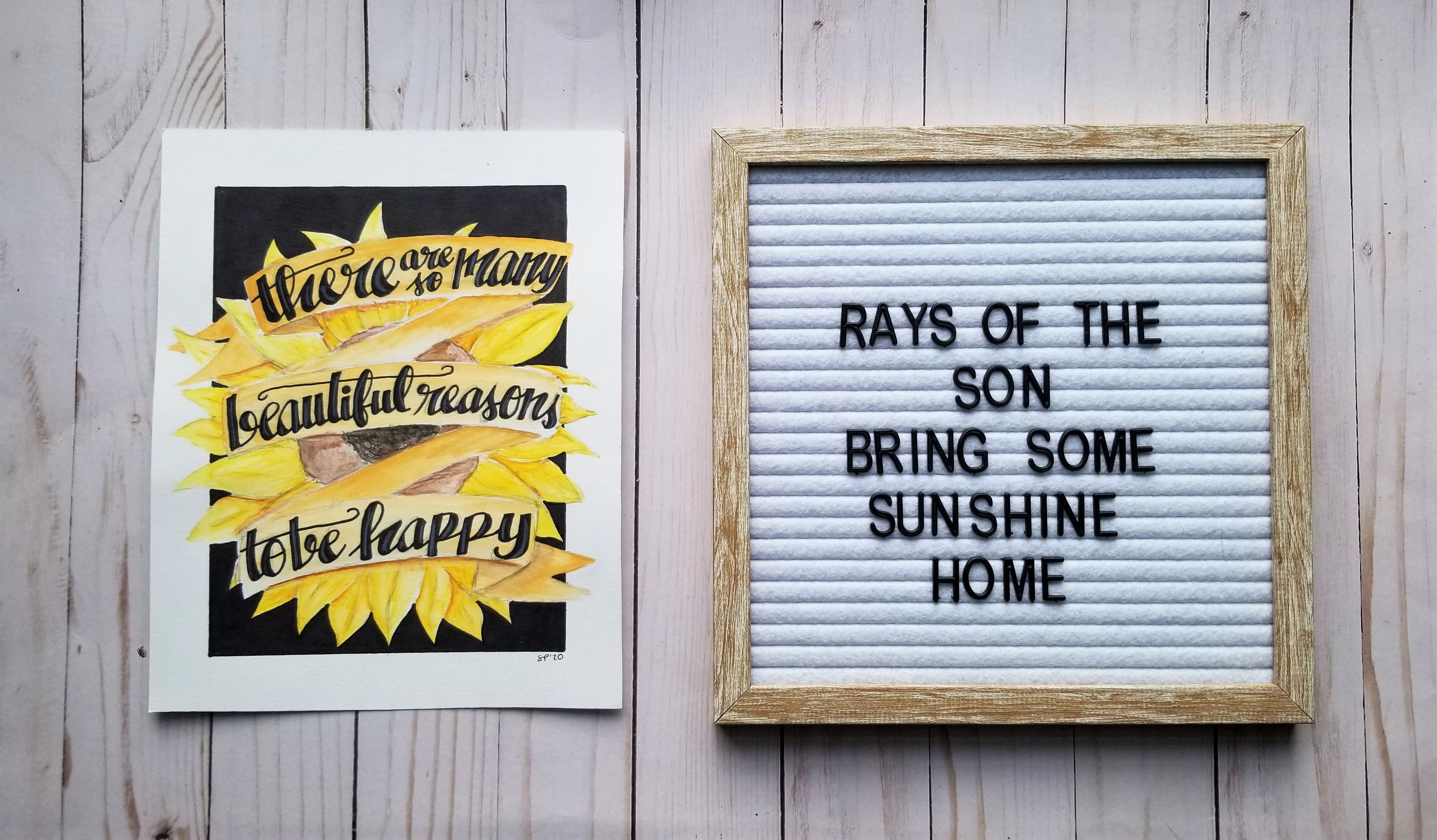 So Many Reasons to Be Happy Typography
