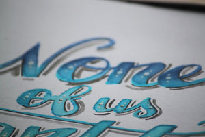 Calm Waters Typography