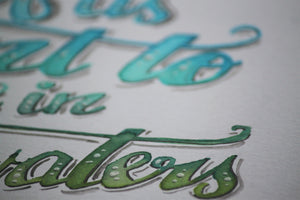 Calm Waters Typography - Rays of the Son