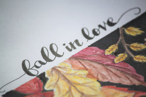 Fall In Love Typography