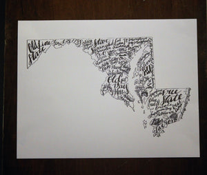 Maryland Word Art - Rays of the Son
