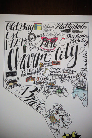 Baltimore Word Art