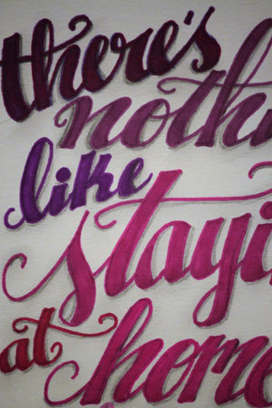 Staying at Home Typography