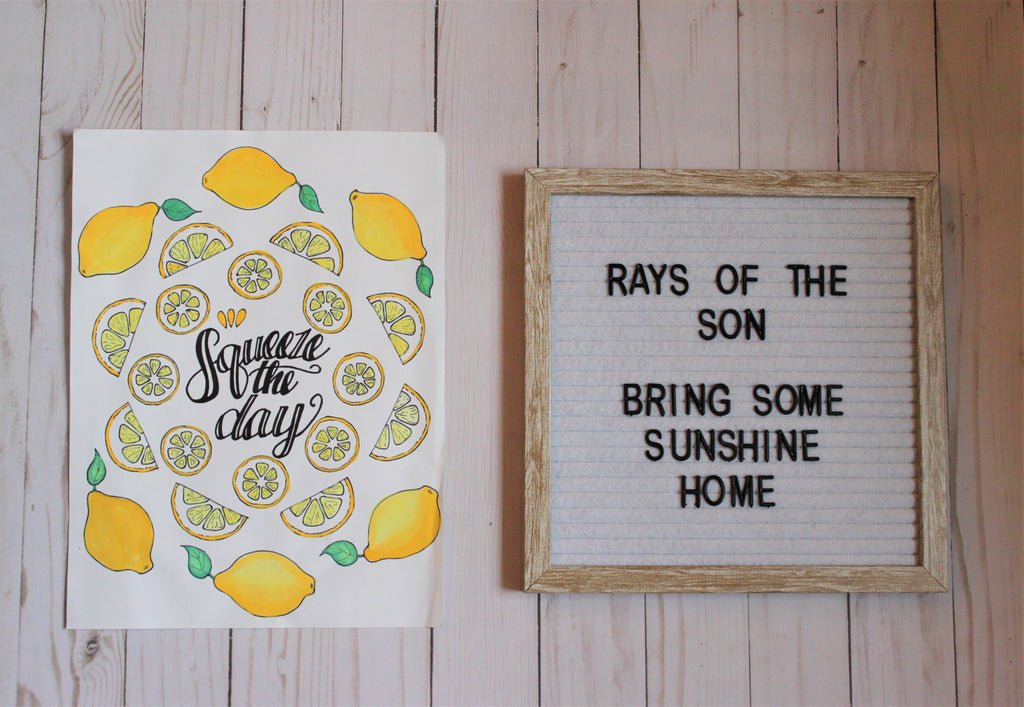 Squeeze the Day Lemon Typography
