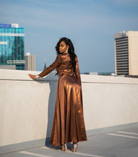 Load image into Gallery viewer, Melanin Magic Copper Dress