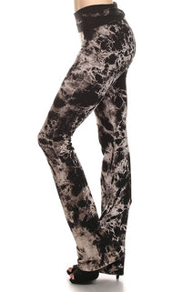 URBAN X Black Crackle Tie Dye Yoga Pants